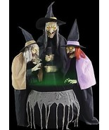 Coven of 3 Witches Animated Halloween Prop  - $224.04