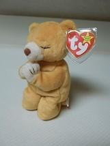 "Ty Beanie Original Baby ""Hope"" Bear 1998 with 2 Tag Errors Praying Bear - $24.75"