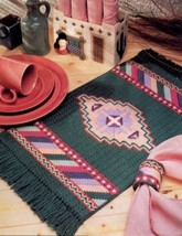 Indian Southwest Table Set Annie's Plastic Canvas Pattern Leaflet NEW - $2.67