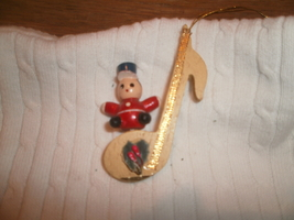 Musical Note With Toy Soldier Christmas Ornament , Russ Berrie & Co.  - $3.00