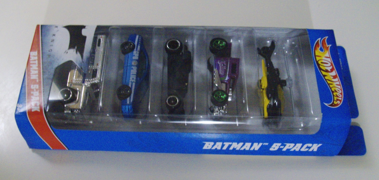 Hot Wheels The Dark Knight Batman 5-Pack Batmobile, Batcopter & cars lot - New