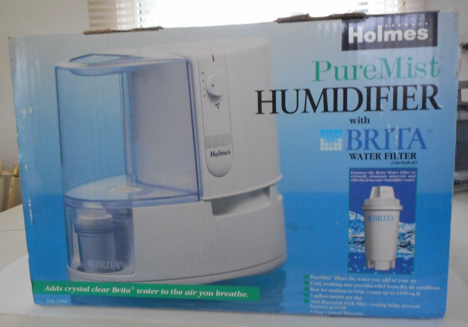Pure Mist Humidifier with Brita Water Filter HM 2200 Humidifiers #2F6A9C