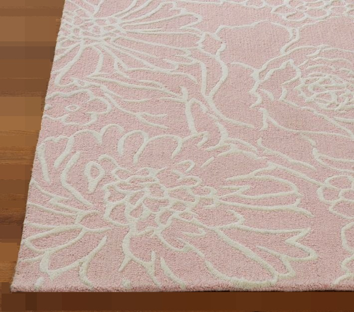 New Pottery Barn CARMEN PINK Area Rug 5X8