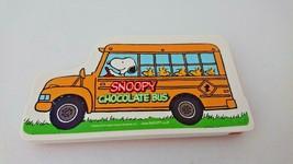Snoopy  peanuts chocolate bus rare Slide pen case rare Orange snoopy  - $15.00