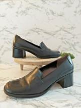 Liz Claiborne Flex Black Slip On Loafer Style Dress Shoe Womens Size 9 - $24.74