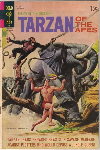 Primary image for Tarzan Comic Book #203, Gold Key Comics 1971 FINE-