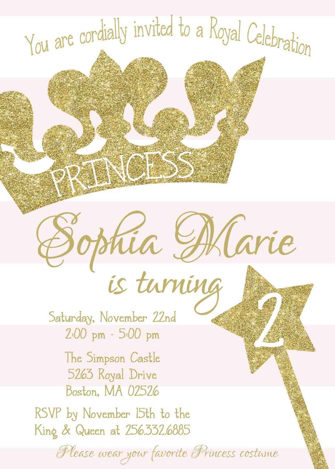 PRINTABLE Princess Gold Pink Tiara and 50 similar items