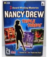 Nancy Drew Triple Threat Mysteries 4, 5, 6 PC V... - $9.95