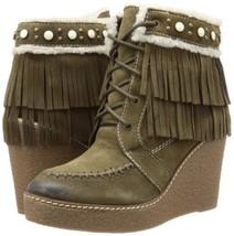 Sam Edelman Women's Kemper Boot Bootie Moss Green Suede NEW SZ 8 - $119.00