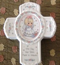 Precious Moments Cross Trinket Box, This Day Has Been Made In Heaven - $10.97