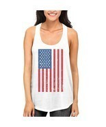 American Flag Cute independence Day Tank Top for Women Fourth of july - £11.66 GBP+