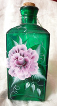 Hand Painted Glass Bottle - $17.77