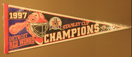 Vintage 1997 Detroit Red Wings Stanley Cup Champions 30x12 Pennant - $9.99