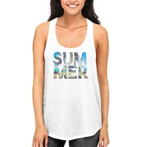 Cute Summer White Tank Tops For Women and Girls Hot Summer Days Racerbac... - $14.99