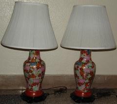 KUTANI PORCELAIN LAMPS  JAPANESE VINTAGE 1920'S - $425.00