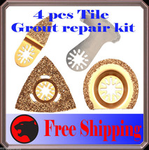 4 Diamond Carbide Grout Oscillating Multi Tool Saw Blade For Chiacgo Rid... - $32.33