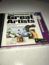 The Encyclopedia Of Great Artists Windows Cd Rom - $8.39