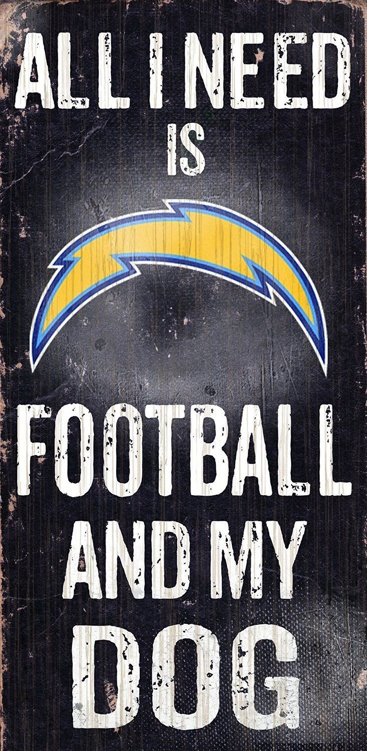 "SAN DIEGO CHARGERS FOOTBALL and my DOG WOOD SIGN & ROPE 12"" X 6""  NFL MAN CAVE!"
