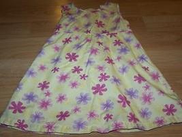 Size 4 Jillian's Closet Yellow Pink Purple Floral Cotton Sundress Sun Dr... - $15.00