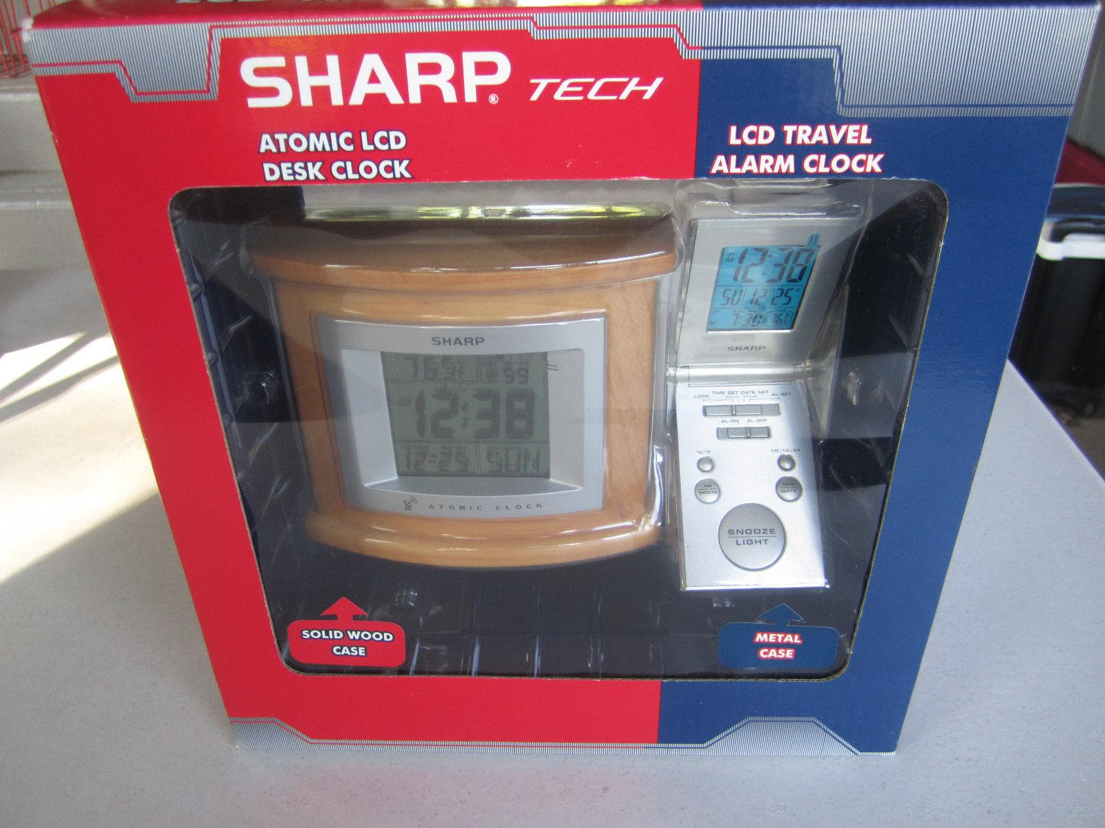 Sharp Tech Atomic Desk Clock And Travel Combo New