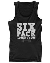 Men's Funny Graphic Workout Tank fitness workout shirts - Six Pack Comin... - $14.99+
