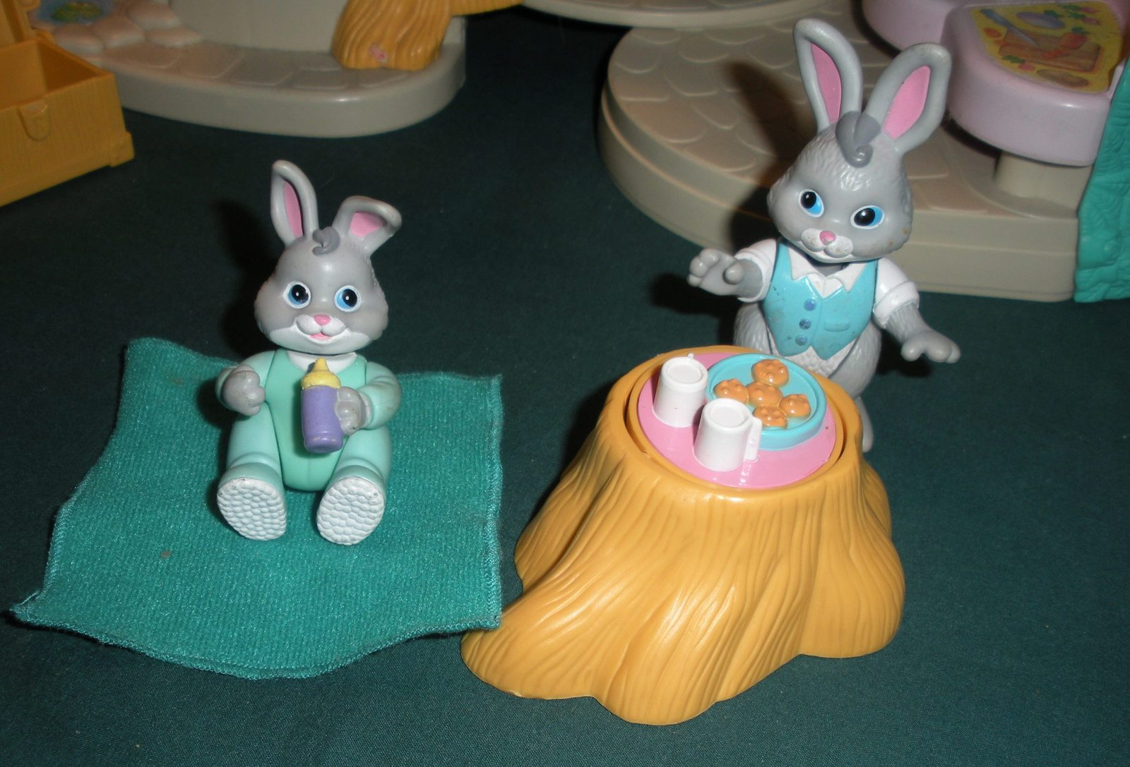 Vintage Fisher Price #74733 Bunny Home COMPLETE w/ Instructions/EXC++! (C)  image 4