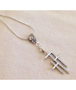 Best Seller Triple Cross Pendant Necklace - $18.99