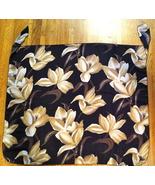 Black w/ Brown, Tan & White Flowers Pareo by Dotti ~ Size Small  - $11.00