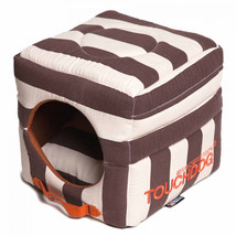 Pet Life Touchdog Polo Stripe Convertible Dog Bed - $103.14+