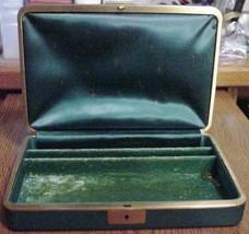 Farrington Footed Trinket Casket Box with Key Japan Green - $29.95