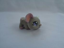Littlest Pet Shop Grey Mouse  #1327 Blue Purple Eyes - as is - $1.93
