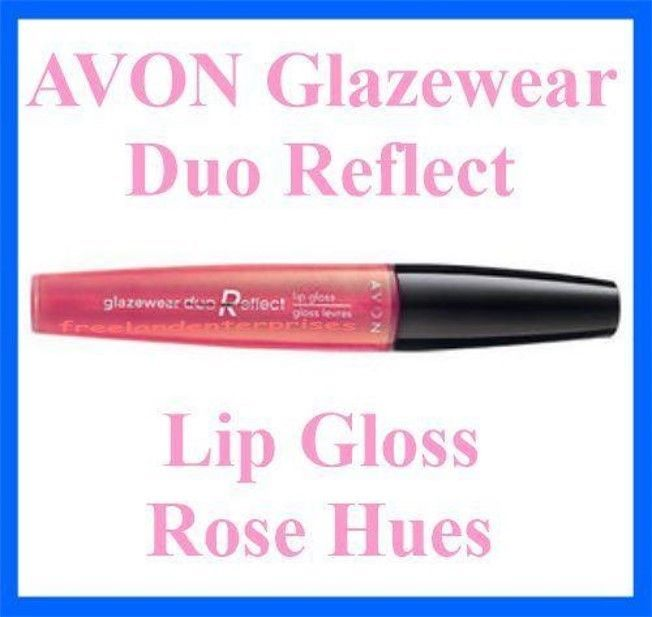 Primary image for Make Up Lip Glazewear Duo Reflect Lip Gloss ~ Rose Hues ~ NEW ~AVON~