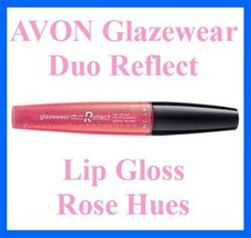 Make Up Lip Glazewear Duo Reflect Lip Gloss ~ Rose Hues ~ NEW ~AVON~ - $8.86
