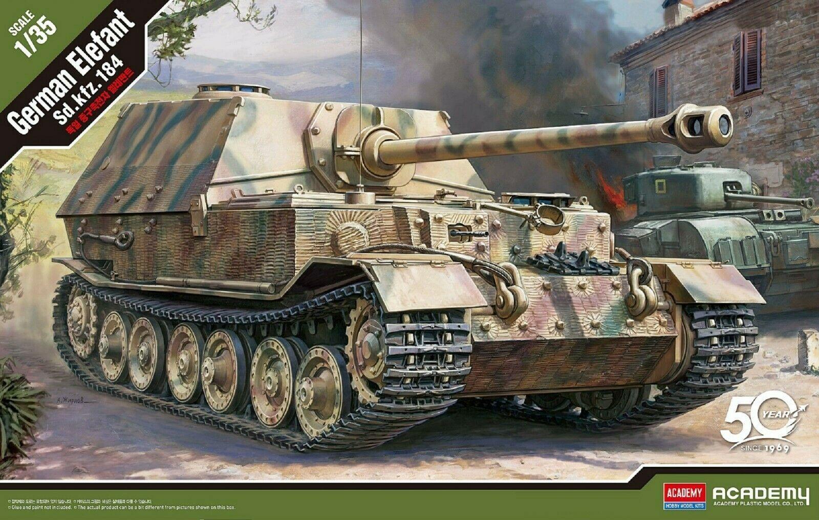 Academy 13537 German Elefant Sd.kfz.184 Tank Plastic Hobby Model Kit