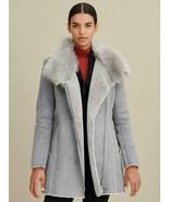 Women's Guess Faux-Shearling Asymmetric Coat, 22WMS430 -C41F Size M Dust... - £115.98 GBP