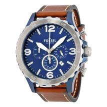 Fossil Nate Navy Blue Dial Men's Chronograph Watch JR1504 - $234.60