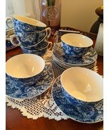 Enoch Wedgwood & Co. Gainsborough Blue 7 Cups 8 Saucers, Made in England... - $95.00