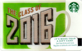 Starbucks 2016 Class Of 2016 Collectible Gift Card New No Value - $2.99
