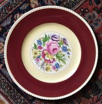 DINNER PLATE FONDEVILLE AMBASSADOR WARE DINNER PLATE RED ROSES VINTAGE 1... - $34.99