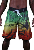 T.I.T.S. Two In The Shirt Hot Girl Beach Jamaica Swim Surf Board Shorts Size: 28 image 3