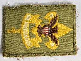 Vintage 1950 Boy Scout B.S.A. BE PREPARED Eagle Embroidered Green Patch ... - $14.95