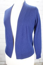 100% Cashmere Wrap Cardigan Sweater Women's Medium Blue Top CHARTER CLUB... - $48.51