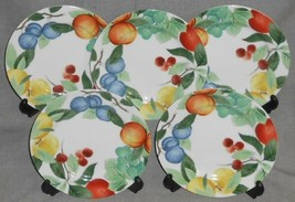 Set (5) Studio Nova AUTUMN JEWELS PATTERN Salad Plates MADE IN JAPAN - $24.74