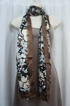 Anne Klein Scarf Sz OS One Size Neutral Camel Multi Polyester Business C... - $14.27