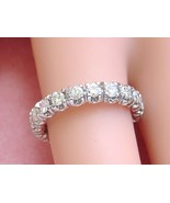 VINTAGE MID-CENTURY 1.4ctw DIAMOND PLATINUM ETERNITY BAND RING 1950 size 6.75 - £1,906.94 GBP