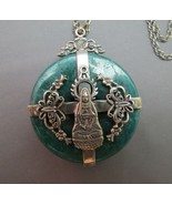 Kwan Yin Quan Yin Buddhist Goddess Necklace Pendant Compassion Sterling ... - $59.39