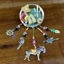 Vintage MOULIN ROUGE Southwestern Poncho Villa in Sombrero Brooch with C... - $39.95