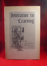 Invitation to Learning from Columbia Broadcasting System Listerner's Guide - $39.20