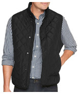 Banana Republic Mens Black Diamond Quilted Vest Jacket Coat Sz Small S 7... - $67.31