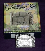 Longaberger Basket Tie On  Only Pin Cottage Gate Collectors Club New In Box - $9.85
